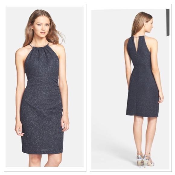 041ce2d83bfe Eliza J Dresses | Glitter Fukuro Textured Sheath Dress | Poshmark